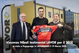 VICENZO NIBALI, TESTIMONIAL LAVOR PER IL 2018