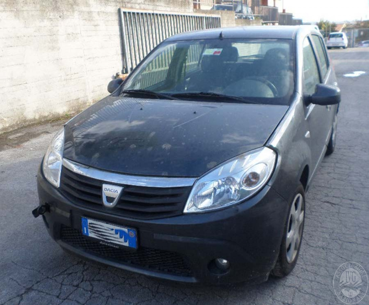 Dacia Sandero anno 2008   GARA DI VENDITA SABATO 7 DICEMBRE 2019  VISIBILE PRESSO DEPOSITERIA IVG SIENA