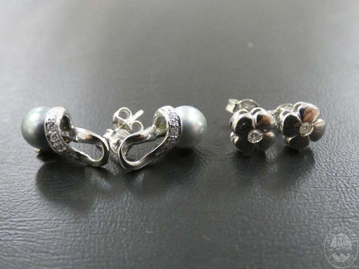 Rif. 16) N. 2 paia di orecchini in oro con pietre  GARA DI VENDITA SABATO 4 APRILE 2020 1