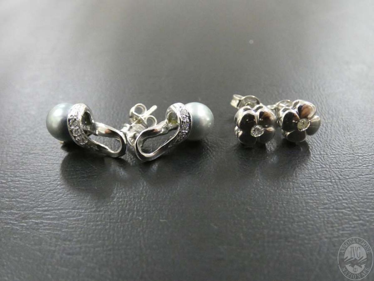 Rif. 16) N. 2 paia di orecchini in oro con pietre  GARA DI VENDITA SABATO 4 APRILE 2020 3