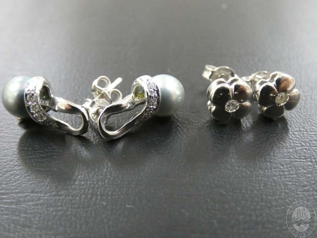 Rif. 16) N. 2 paia di orecchini in oro con pietre  GARA DI VENDITA SABATO 4 APRILE 2020 2