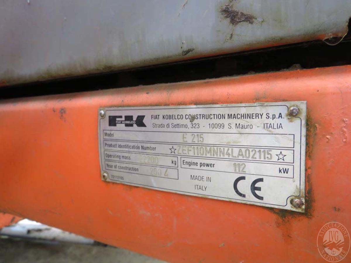 Escavatore Fiat Kobelco E215   GARA DI VENDITA SABATO 7 DICEMBRE 2019  VISIBILE IN SAN GIOVANNI VALDARNO (AR) 16