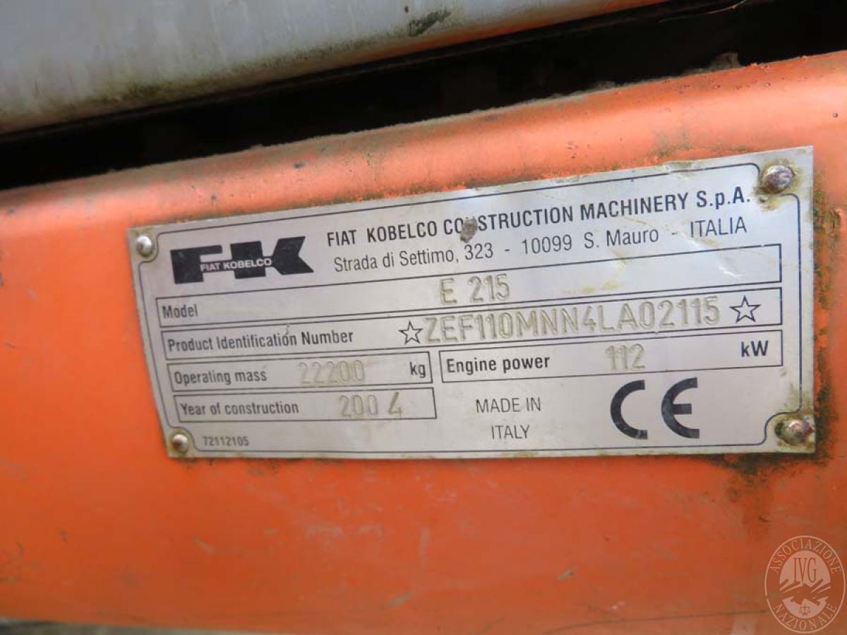 Escavatore Fiat Kobelco E215   GARA DI VENDITA SABATO 7 DICEMBRE 2019  VISIBILE IN SAN GIOVANNI VALDARNO (AR) 17