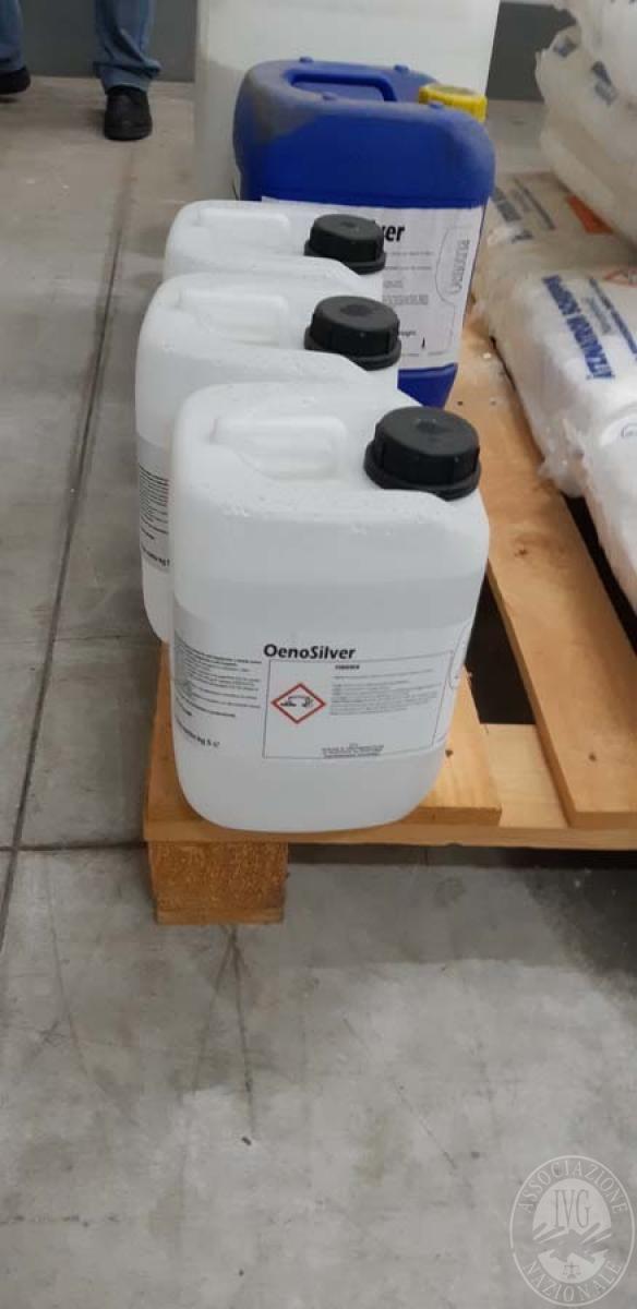 Prodotti chimici per enologiia + attrezzature ufficio   VENDITA 17 DICEMBRE 2019 CON GARA ONLINE RACCOLTA DI OFFERTE 4