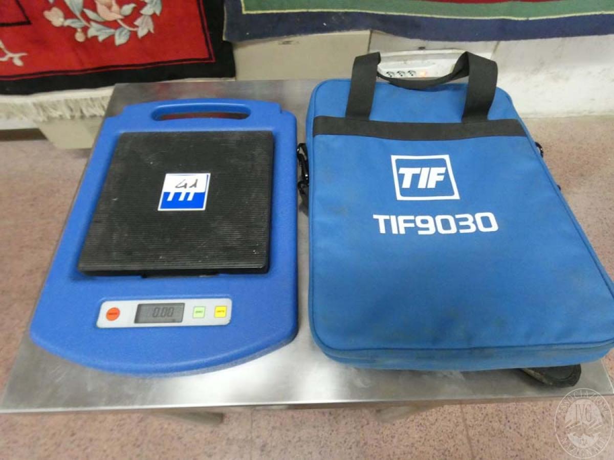 Rif. 41 + 42) Bilancia pesatura gas TIF 9030 + rilevatore perdite gas  GARA DI VENDITA SABATO 8 FEBBRAIO 2020