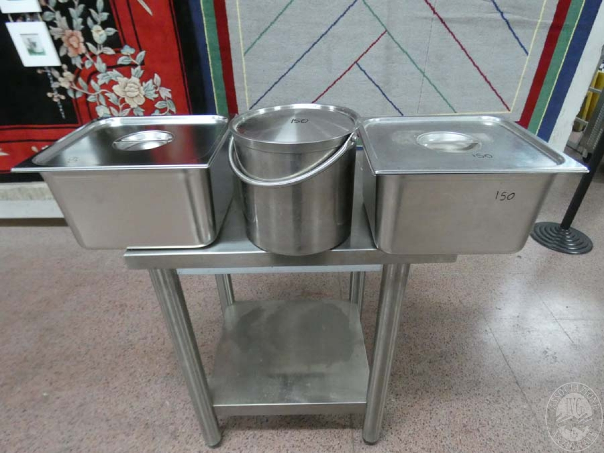 Rif. 150) N. 3 contenitori in acciaio inox    GARA DI VENDITA SABATO 8 FEBBRAIO 2020