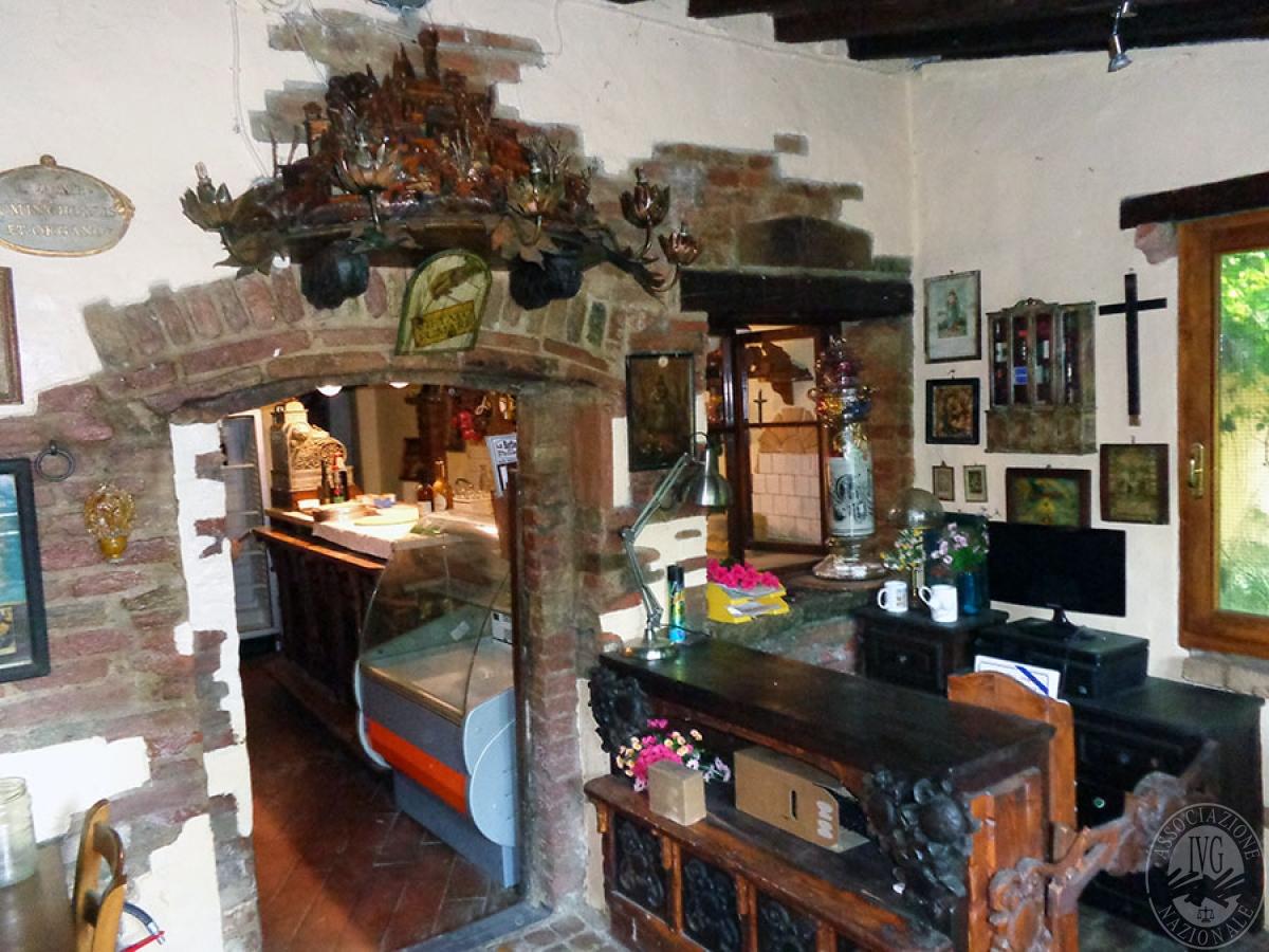 Appartamento, ristorante, terreni a MARCIANO DELLA CHIANA in Via dell'Esse 19