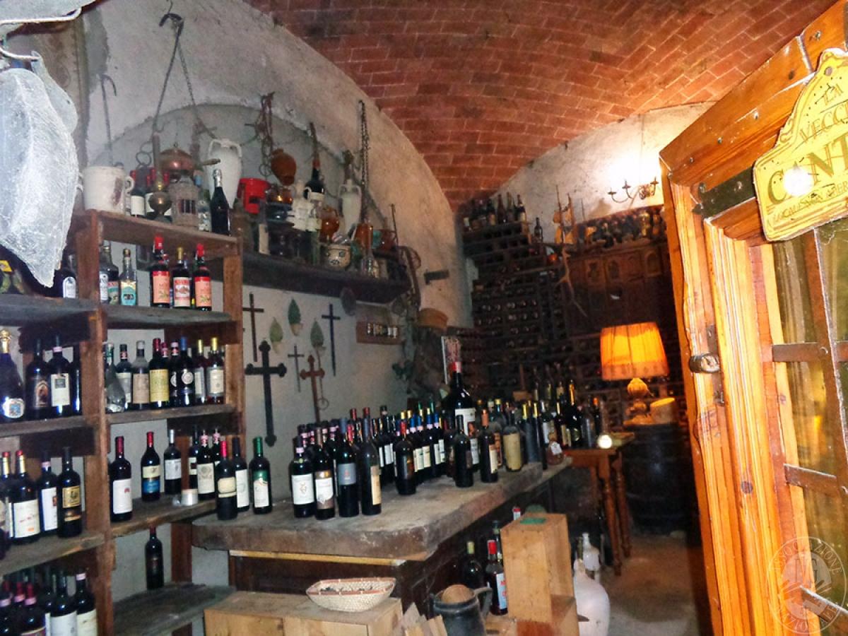 Appartamento, ristorante, terreni a MARCIANO DELLA CHIANA in Via dell'Esse 26