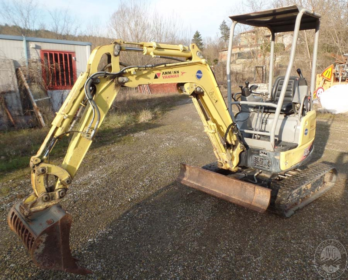 Rif. 3) Mini escavatore Yanmar  GARA ONLINE 25 SETTEMBRE 2020