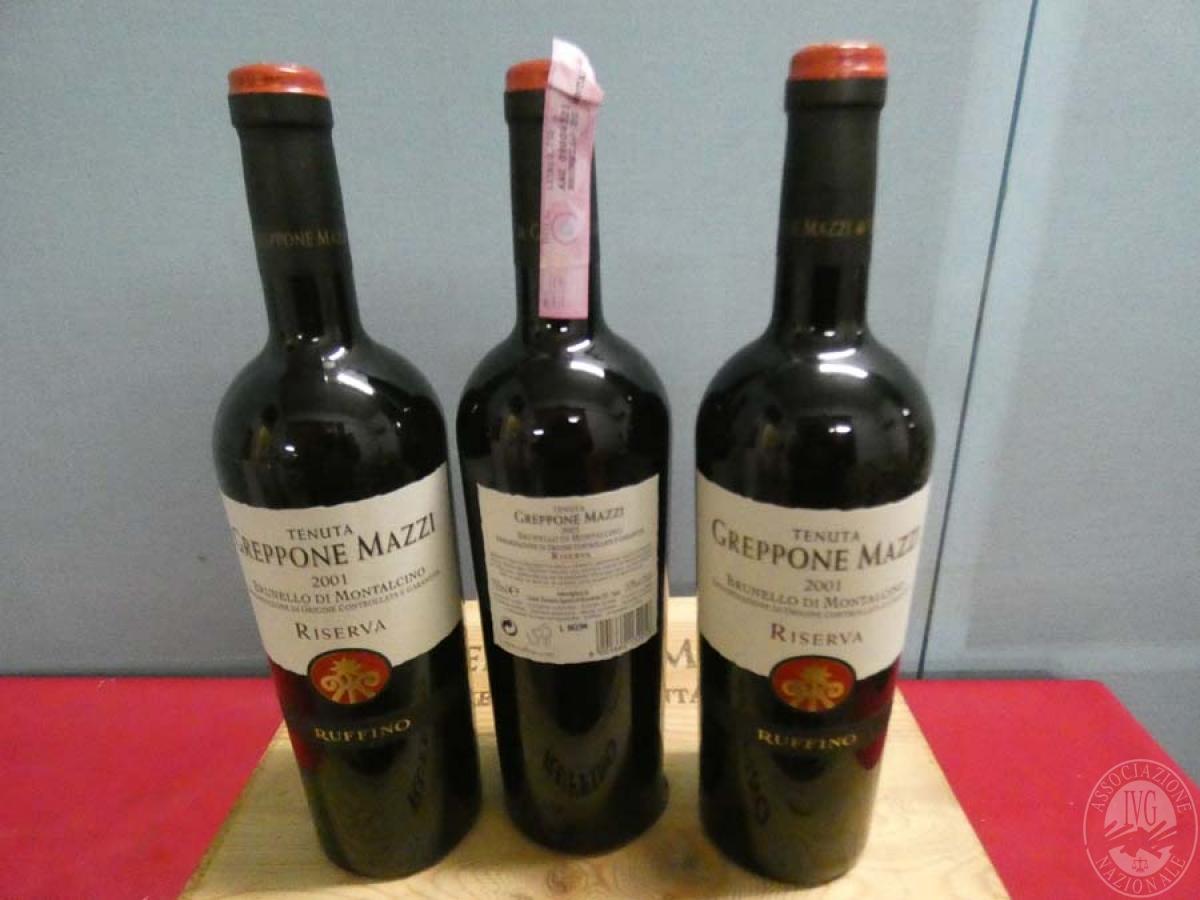 Rif. 1) N. 6 bottiglie di Brunello di Montalcino  VENDITA ONLINE
