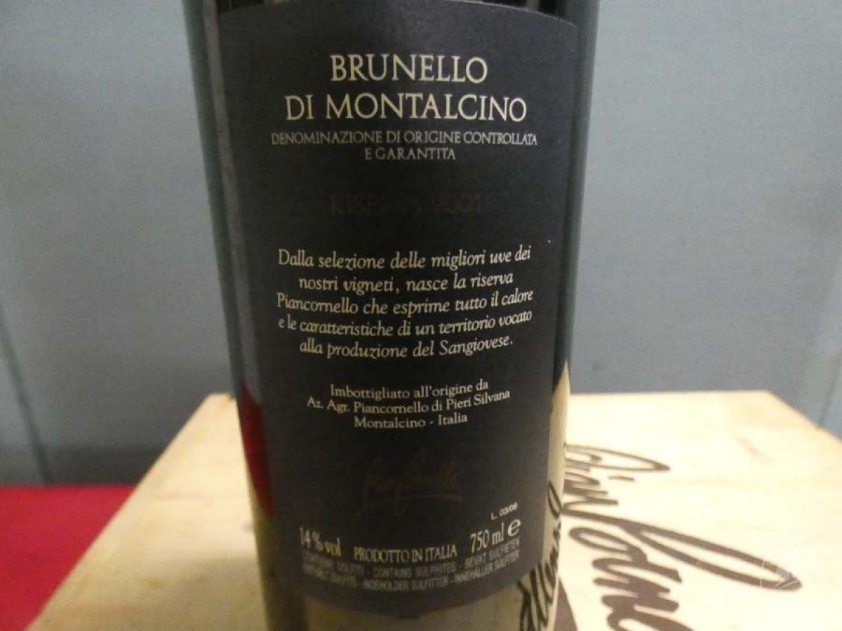 Rif. 14) N. 12 bottiglie di Brunello di Montalcino  VENDITA ONLINE 8