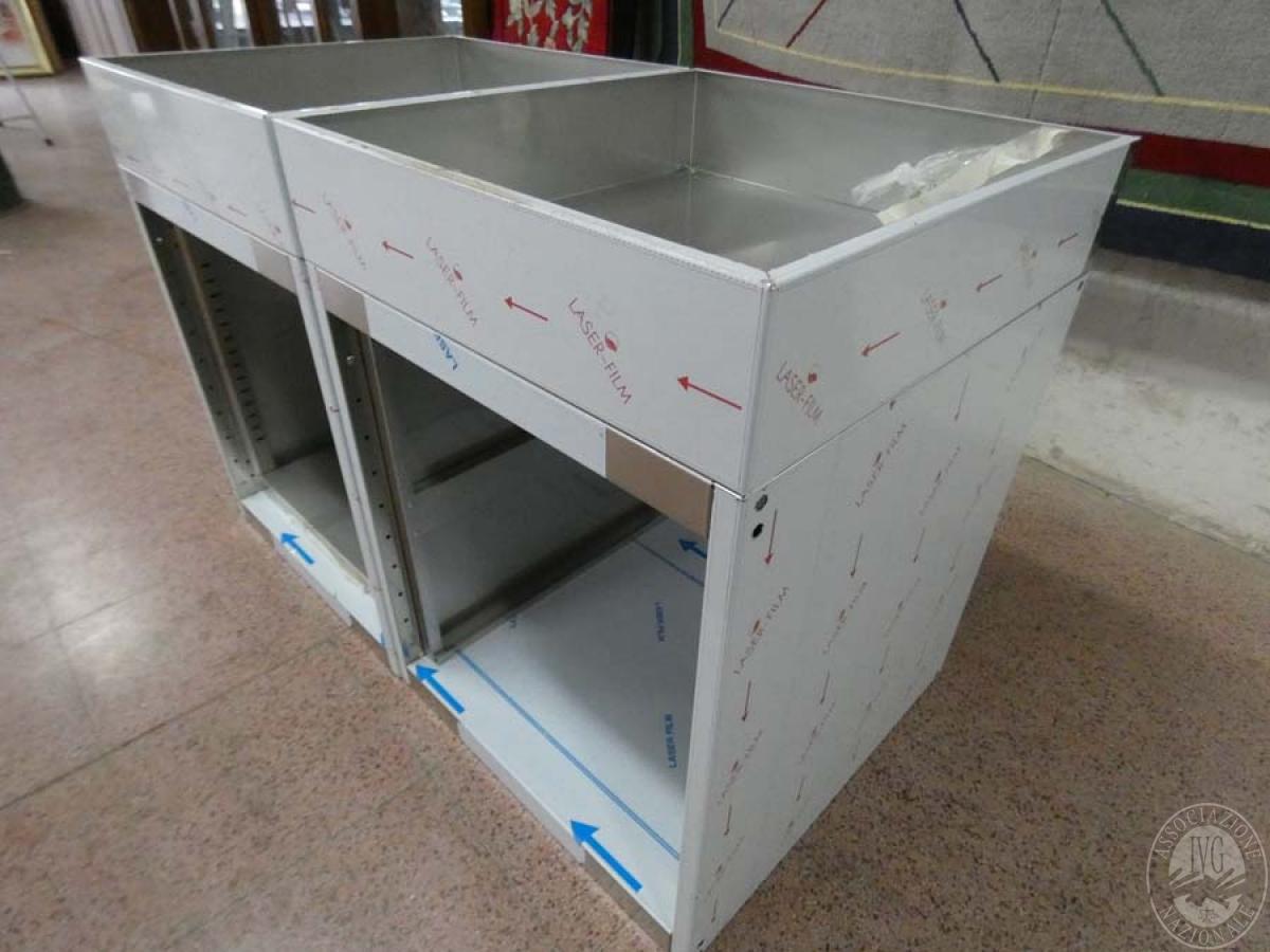 Rif. 115) Moduli in acciaio inox per composizioni   GARA DI VENDITA SABATO 4 APRILE 2020