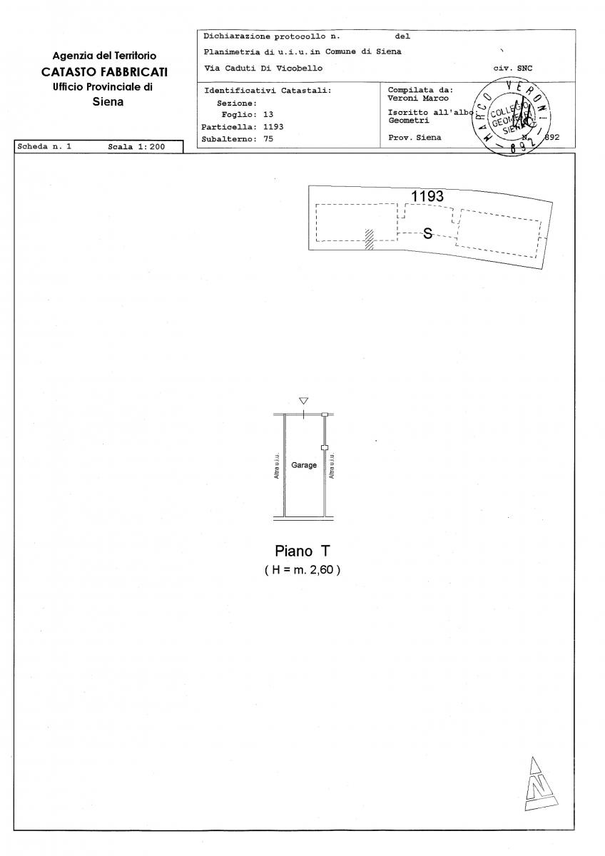 Garage a SIENA, via Caduti di Vicobello - LOTTO 200