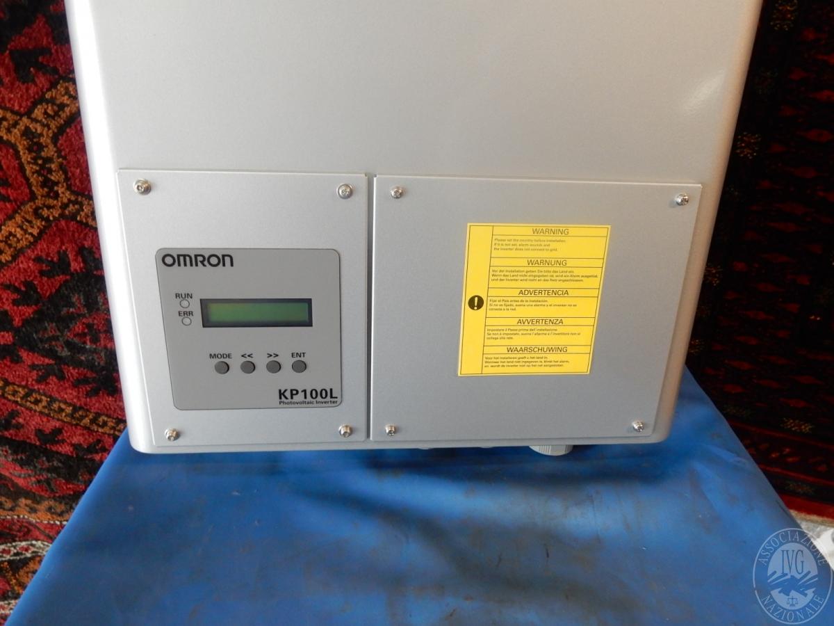 Rif. 55/2) Inverter fotovoltaico OMRON da 10 KW, nuovo  GARA DI VENDITA 2 FEBBRAIO 2019