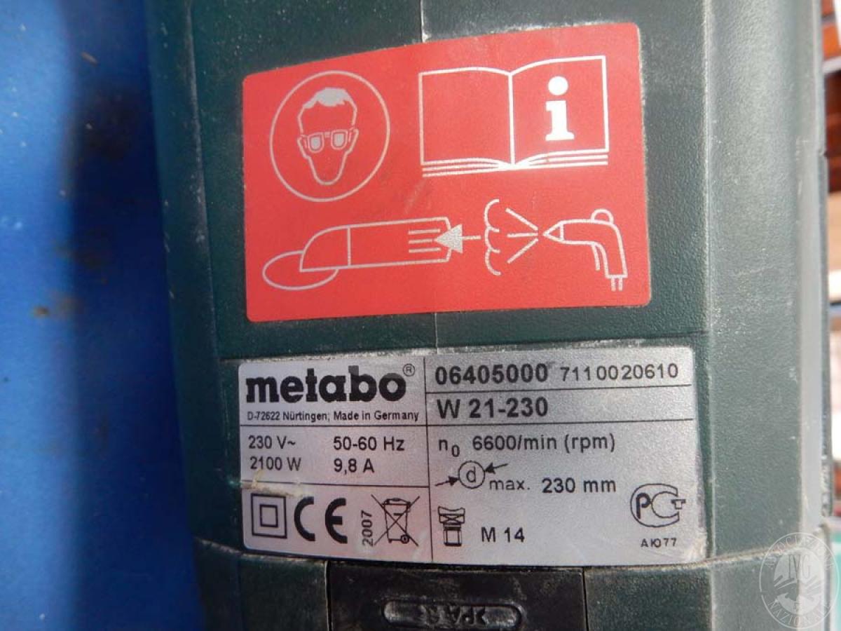 Smerigliatrice marca METABO   GARA DI VENDITA 6 OTTOBRE 2018