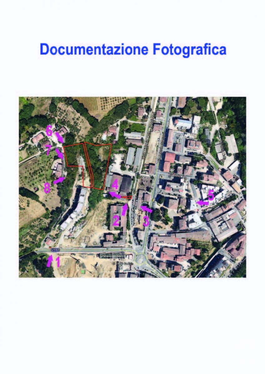 Terreni edificabili a COLLE VAL D'ELSA, località il Poggino - Lotto LA FABBRICHINA