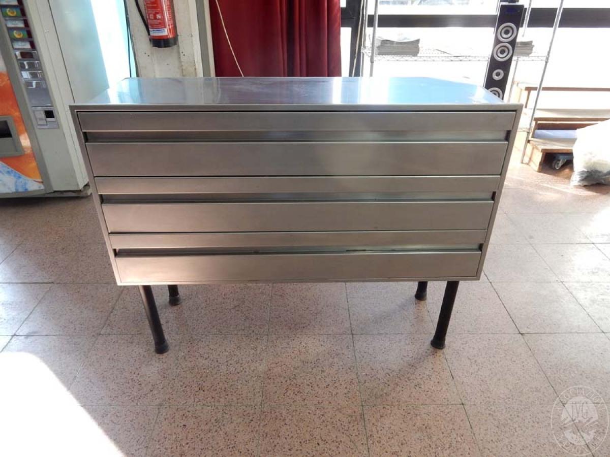 Rif. 21) Mobile in acciaio inox a 3 cassetti    GARA DI VENDITA VENERDI' 19 LUGLIO 2019
