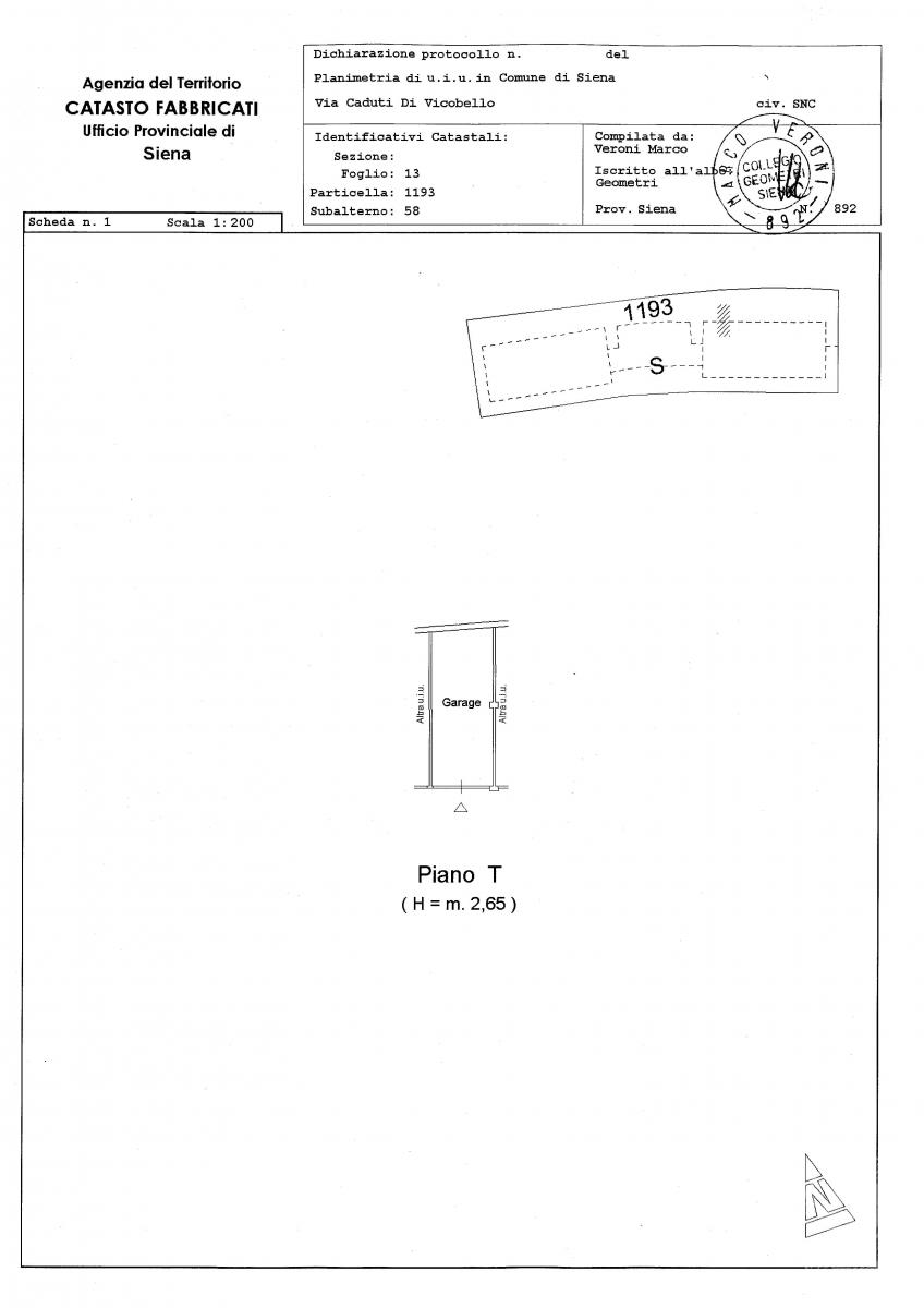 Garage a SIENA - LOTTO 193