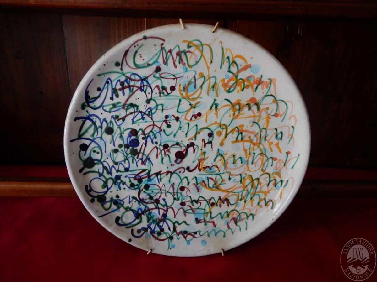 Rif. 5) Opera d'arte di Giuseppe Friscia: ceramica anni ottanta   VENDITA ONLINE 1