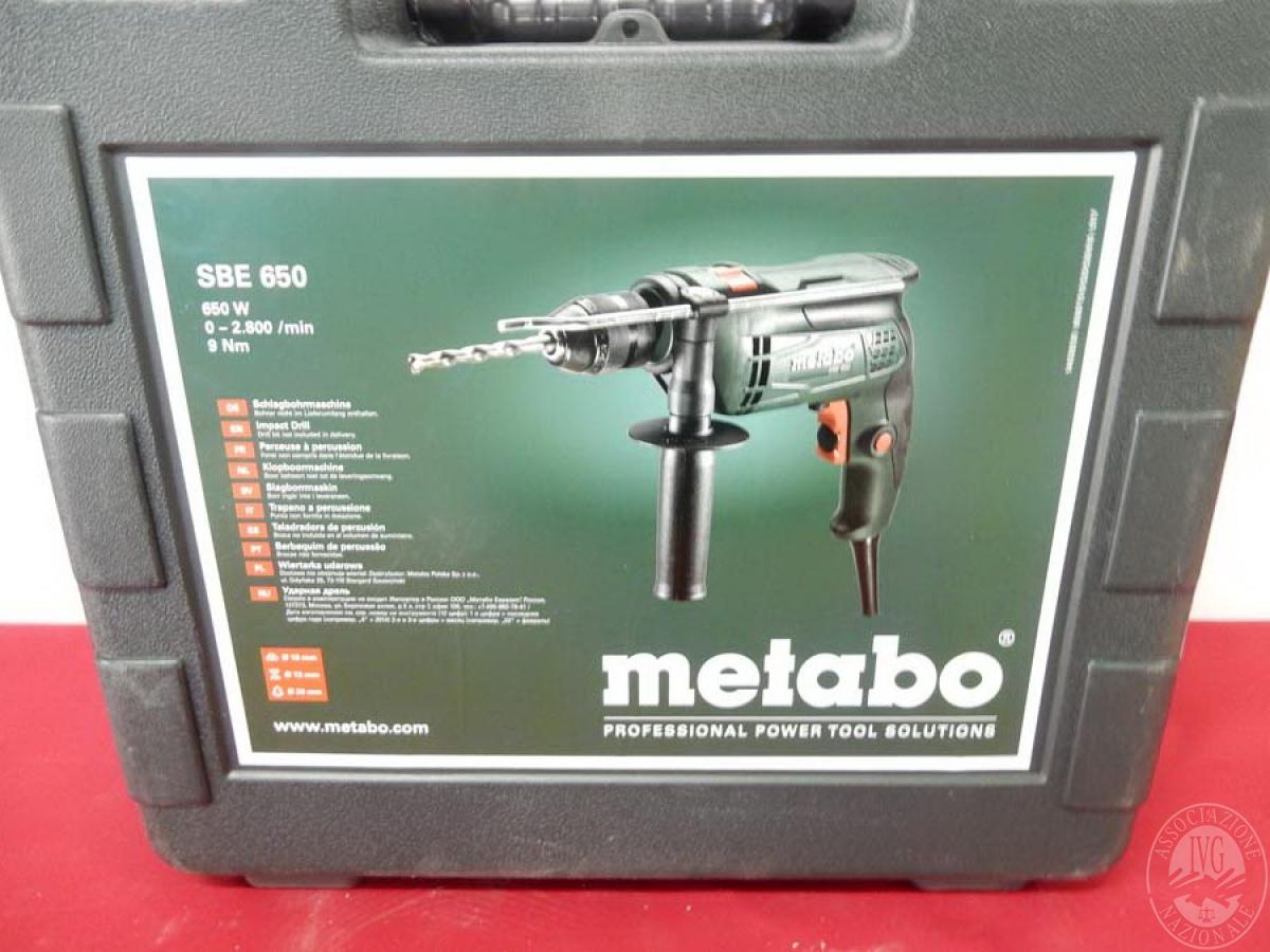 Rif. 15) Trapano Metabo SBE 650, NUOVO   GARA DI VENDITA 5 OTTOBRE 2019
