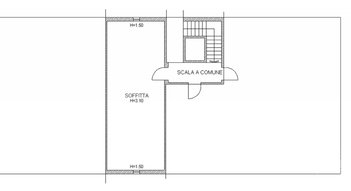 Sottotetto e garage a MONTE SAN SAVINO in loc. Le Fonti - Lotto 7
