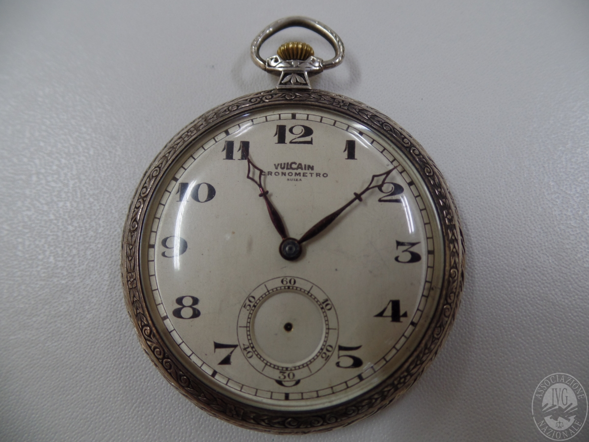 Rif. 14) Orologio da tasca in argento marca Vulcain   GARA ONLINE 12 NOVEMBRE 2020