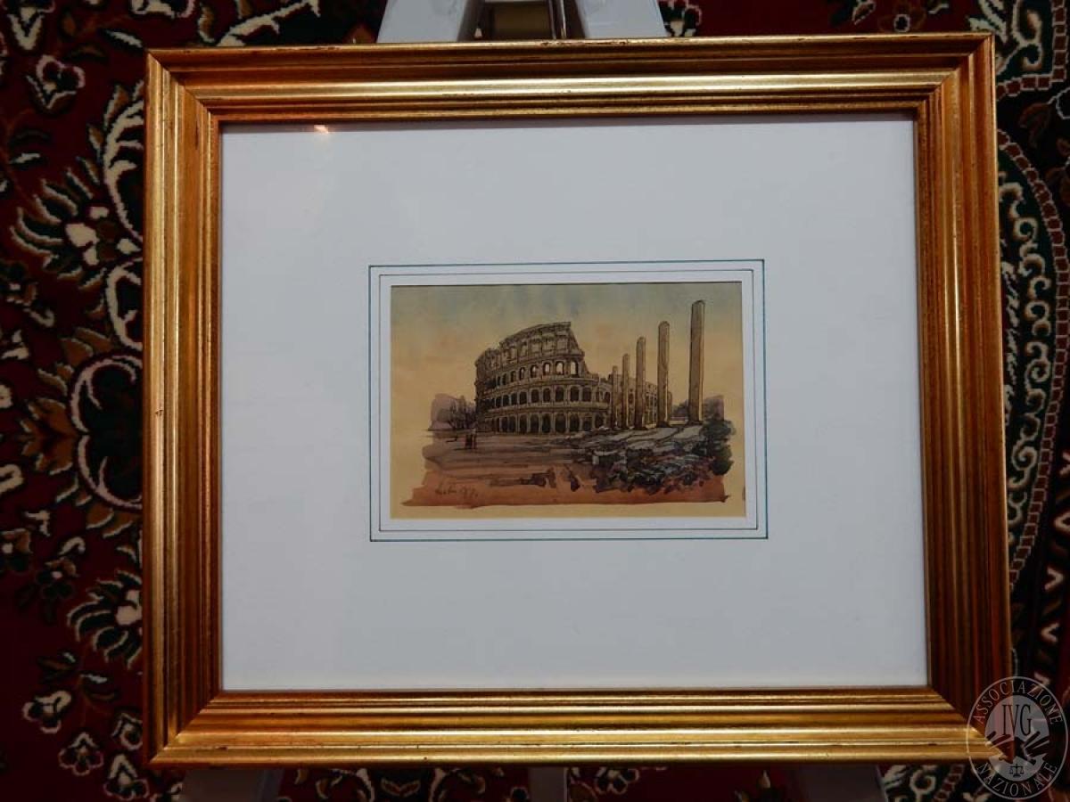 Rif. 46) Stampa raffigurante Colosseo   GARA ONLINE 29 GIUGNO 2021