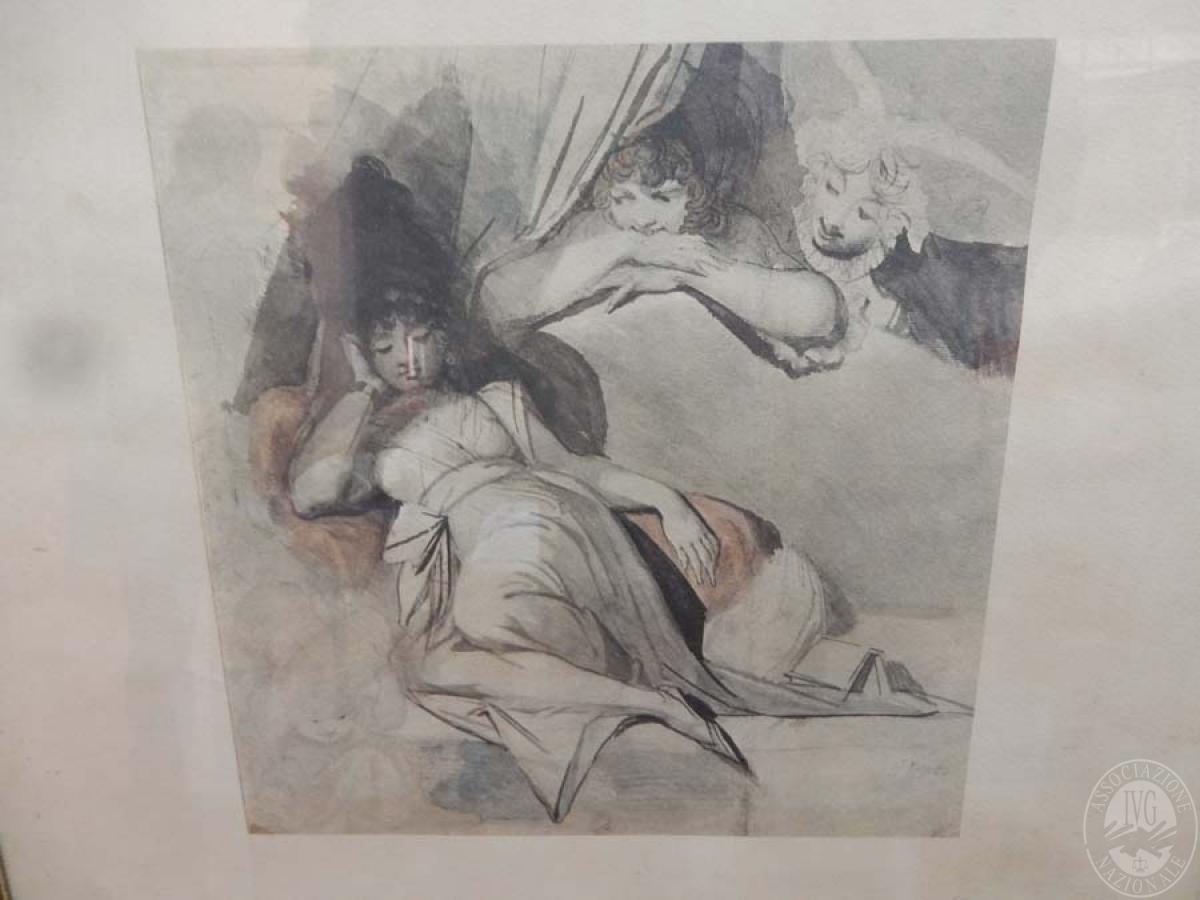 Rif. 22) Stampa raffigurante figure femminili   GARA ONLINE 29 GIUGNO 2021