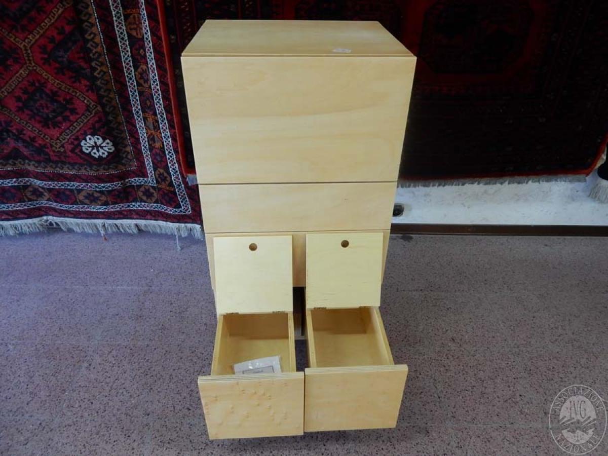 Rif. 5) Arredo di design : Cassettiera in legno di betulla       GARA ONLINE 29 OTTOBRE 2021 7