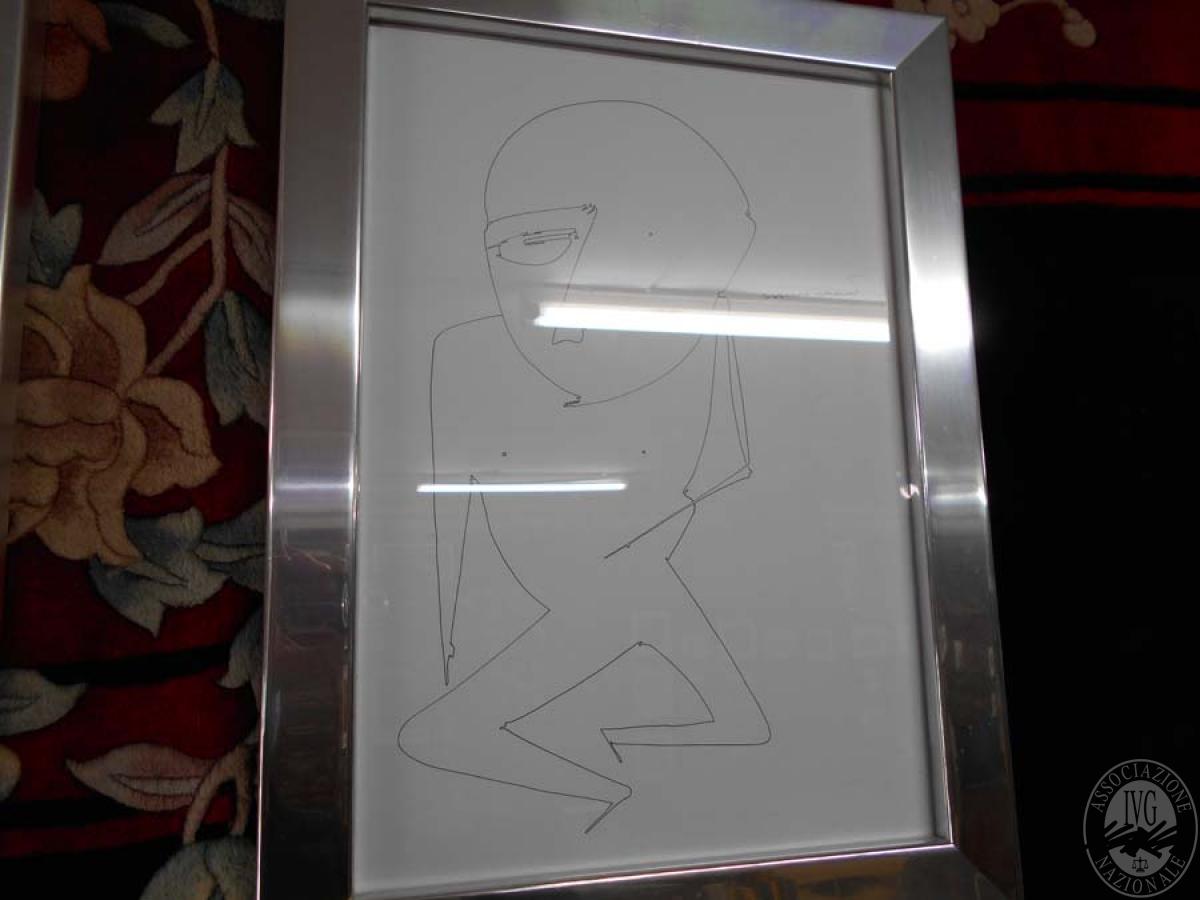 Rif. 15C) Arredo di design : quadro con cornice color argento     GARA ONLINE 24 GIUGNO 2021 0