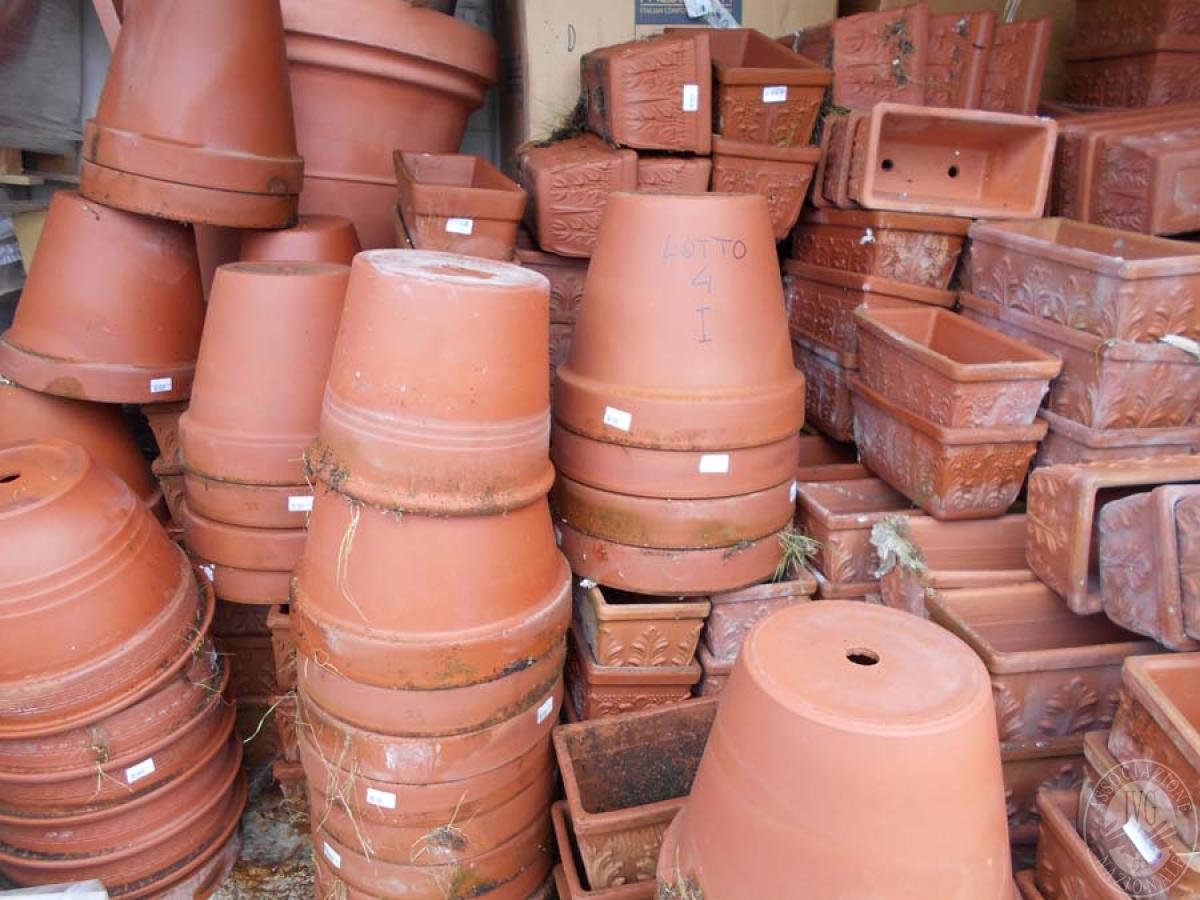 Lotto 4I) N. 500 vasi in terracotta     GARA ONLINE 22 OTTOBRE 2021