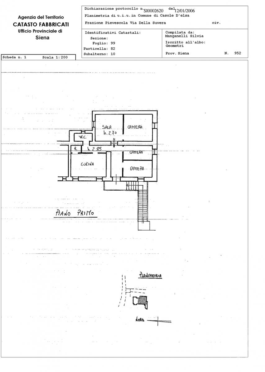 Appartamento e magazzino a CASOLE D'ELSA in Via della Suvera 31