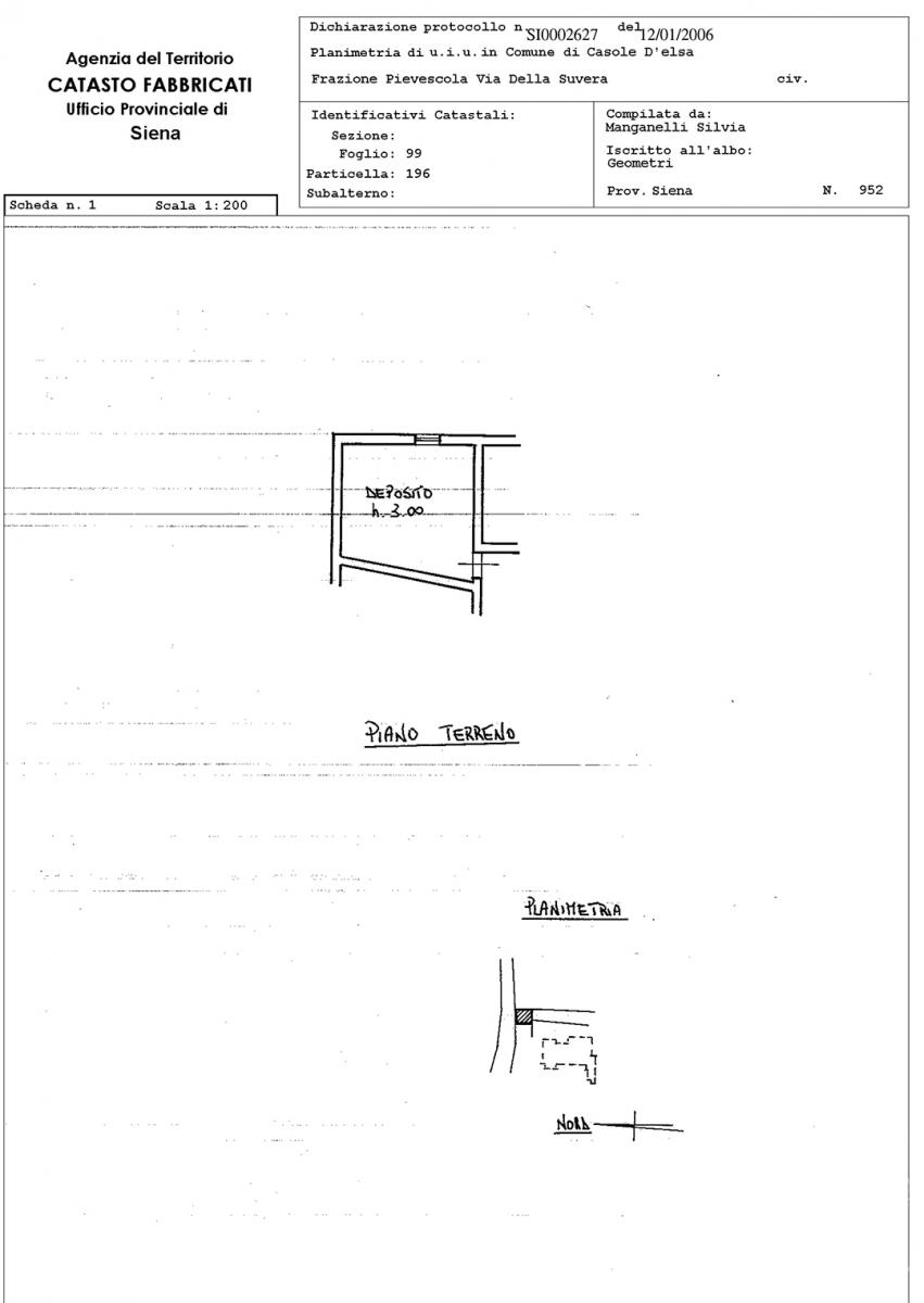 Appartamento e magazzino a CASOLE D'ELSA in Via della Suvera 32