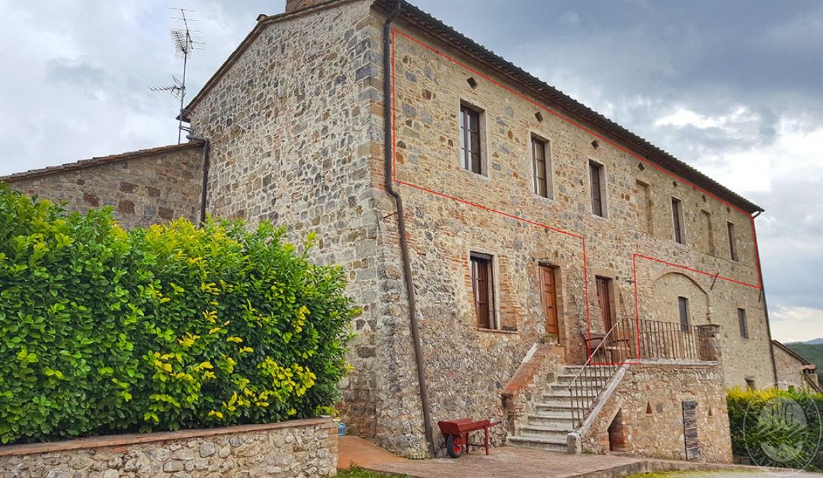 APPARTAMENTO IN COLONICA a Colle di Val d'Elsa in loc. Canonica Collalto - Lotto 2