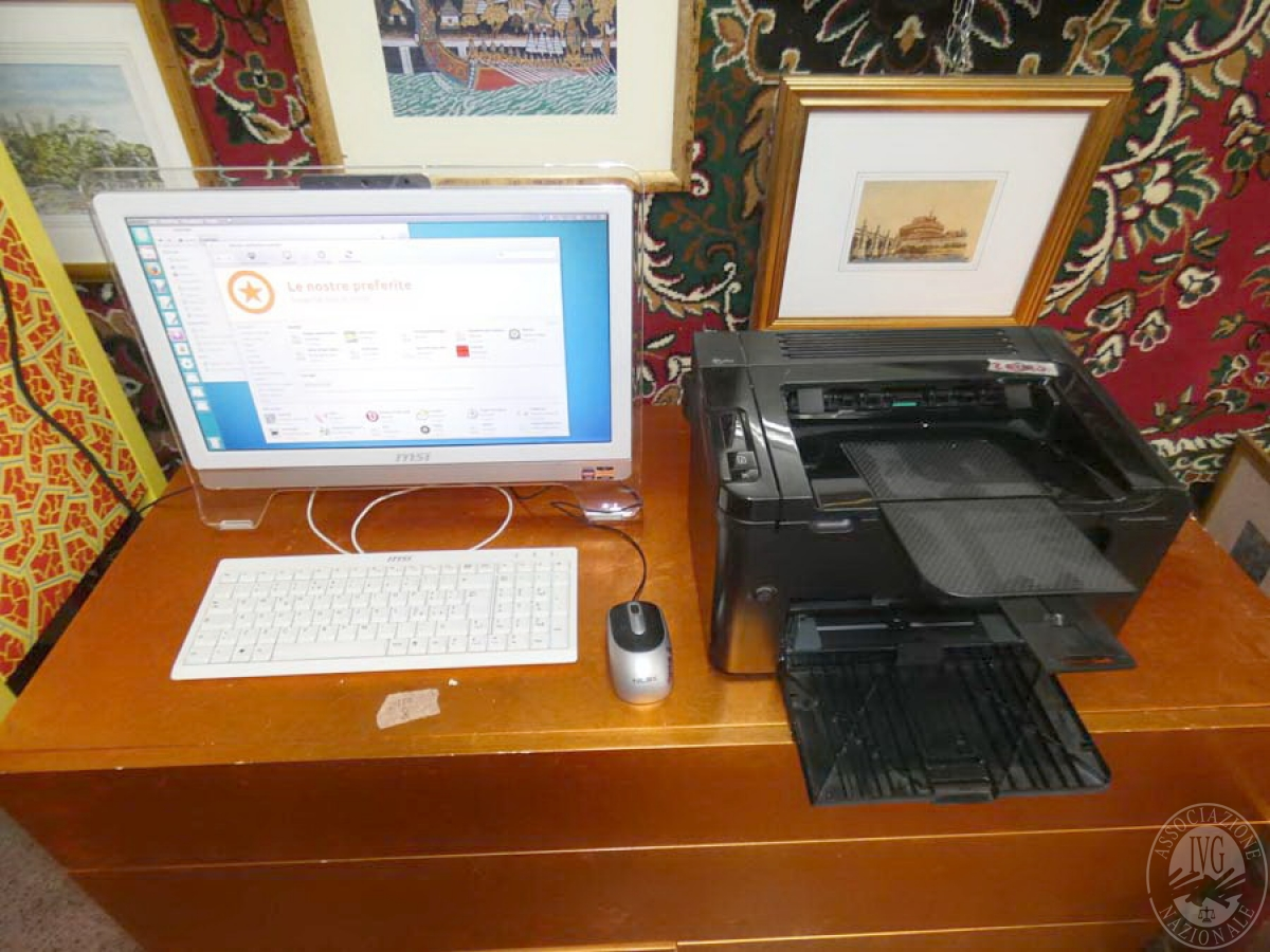Rif. 2) Computer MSI + stampante    GARA ONLINE 1 OTTOBRE 2021