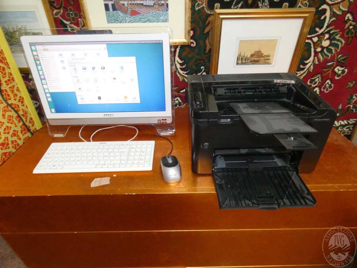 Rif. 2) Computer MSI + stampante    GARA ONLINE 4 GIUGNO 2021