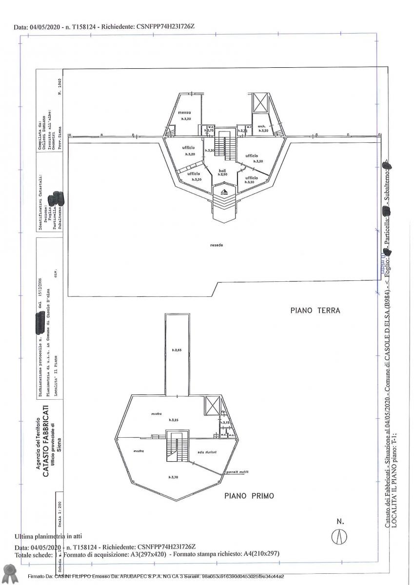 Fabbricato ad uso industriale a Casole d'ELsa in loc. Il Piano 14