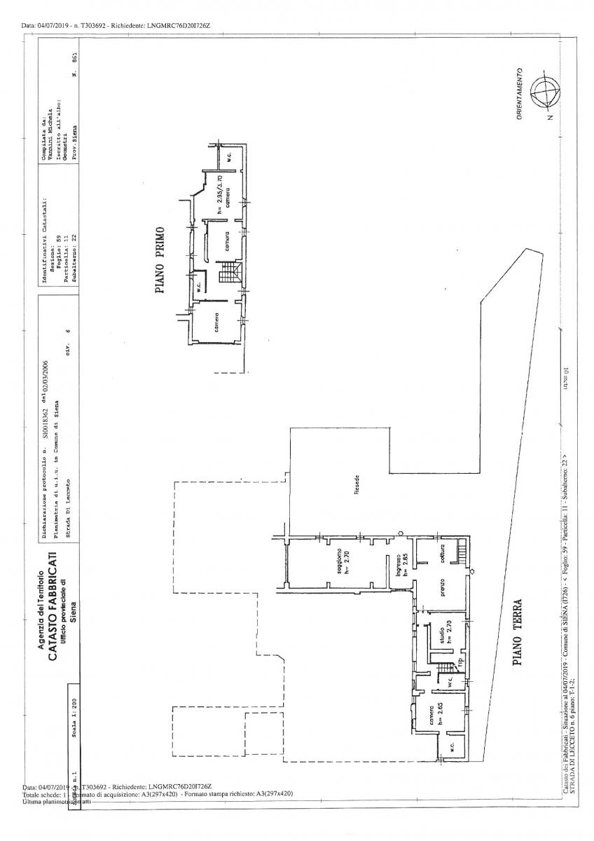 Appartamento in podere a Siena in loc. Lecceto 38
