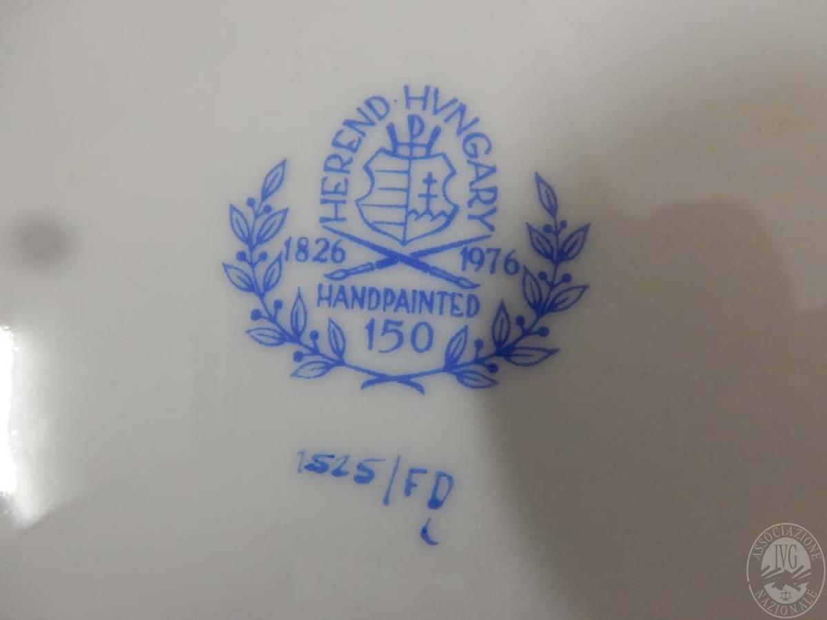 Rif. 5) Servizio piatti firma Herend     GARA ONLINE 15 OTTOBRE 2021 24