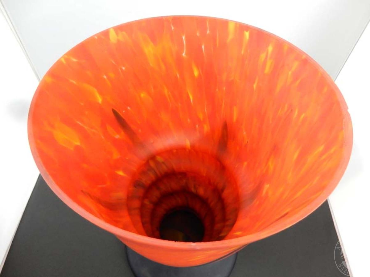 """Rif. 6) Vaso rosso e nero """"Fiamma """"     GARA ONLINE 15 OTTOBRE 2021"""