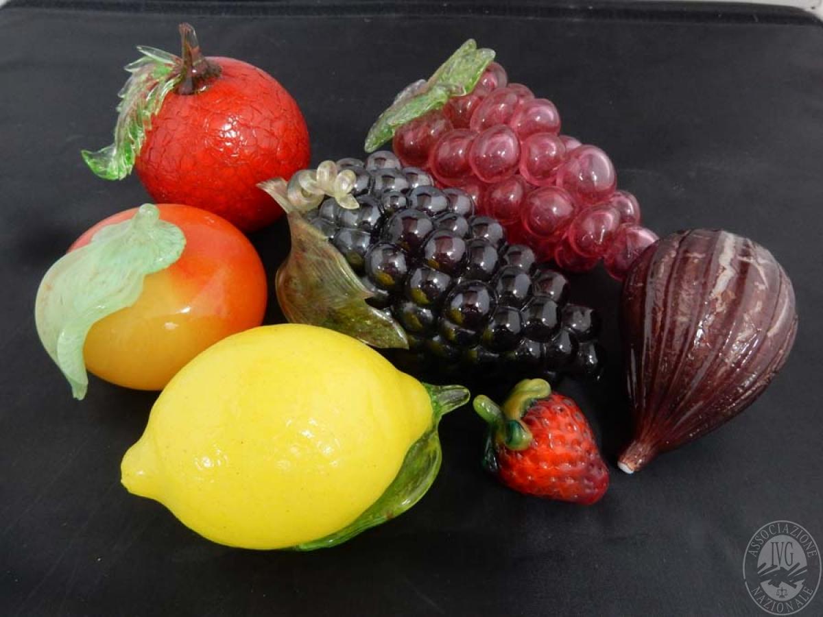 Rif. 21) N. 7 pezzi di frutta in vetro    GARA ONLINE 15 OTTOBRE 2021