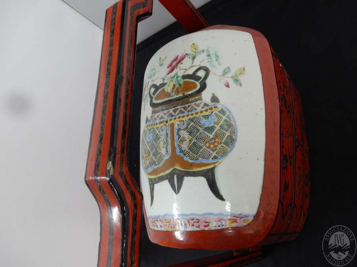 Rif. 9) Porta gioie in legno e ceramica     GARA ONLINE 15 OTTOBRE 2021
