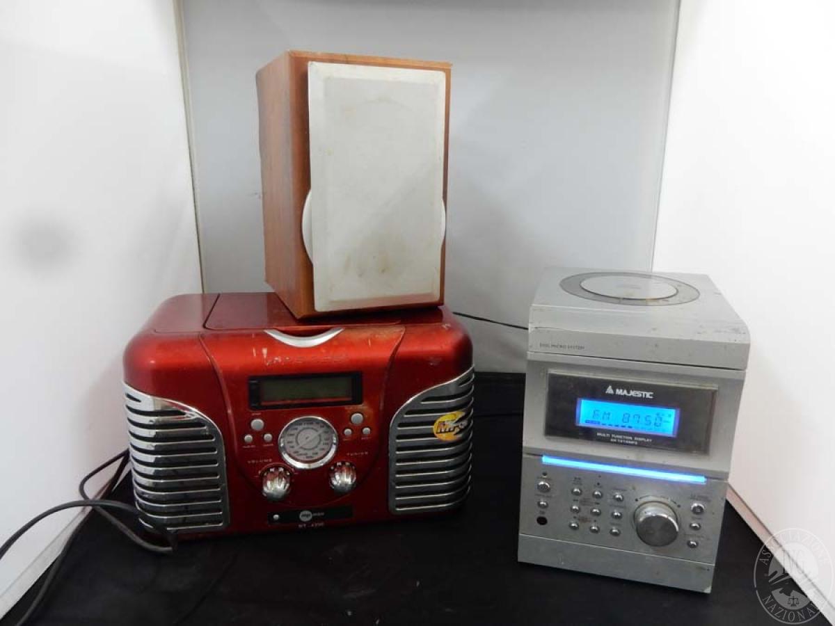 Rif. 21) N. 2 stereo portatili, Majestic e altro   GARA ONLINE 15 OTTOBRE 2021