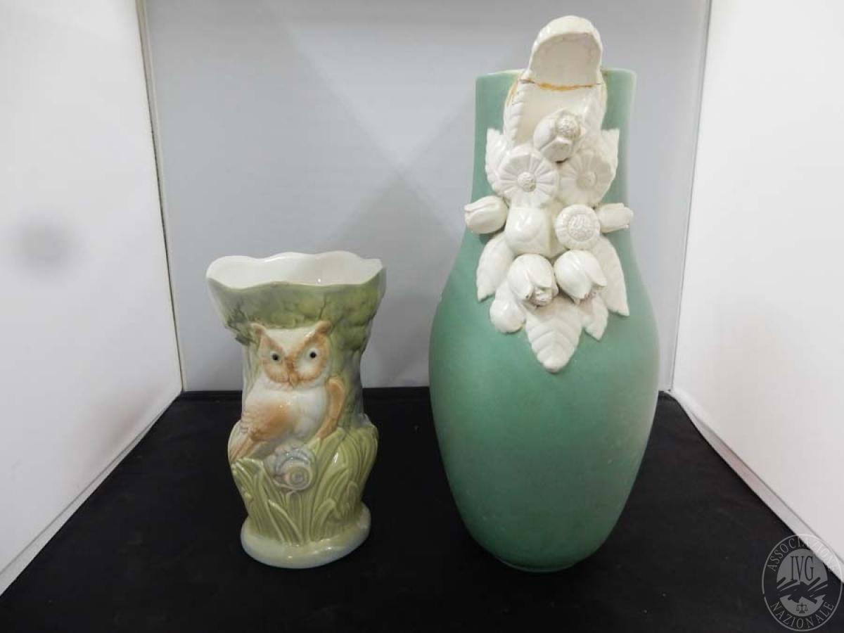 Rif. 23) N. 2 vasi in ceramica   GARA ONLINE 15 OTTOBRE 2021