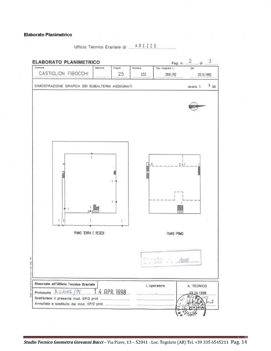 Laboratorio artigianale a CASTIGLION FIBOCCHI, via SETTE PONTI 7