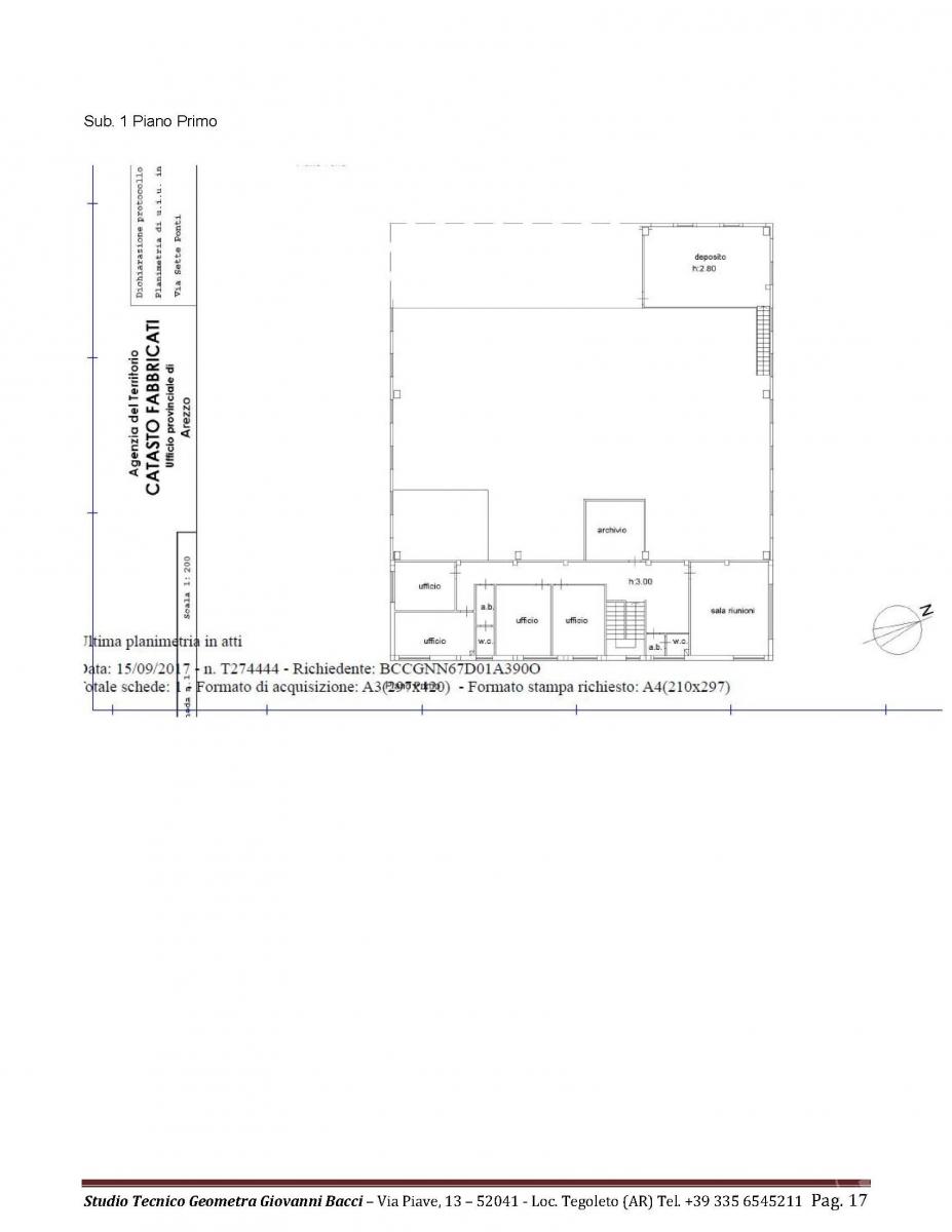 Laboratorio artigianale a CASTIGLION FIBOCCHI, via SETTE PONTI 10