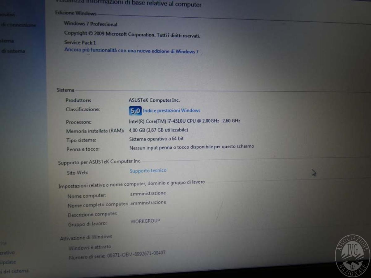 Rif. 5) Computer portatile ASUS     GARA ONLINE 22 OTTOBRE 2021 6