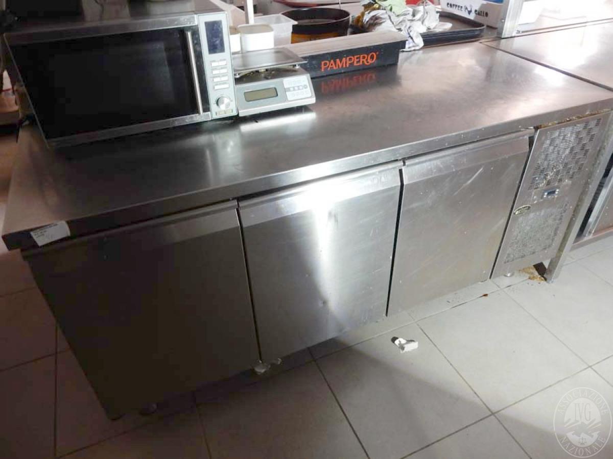 Lotto 20) Banco frigo  in acciaio inox Cold Line      GARA ONLINE 29 NOVEMBRE 2021