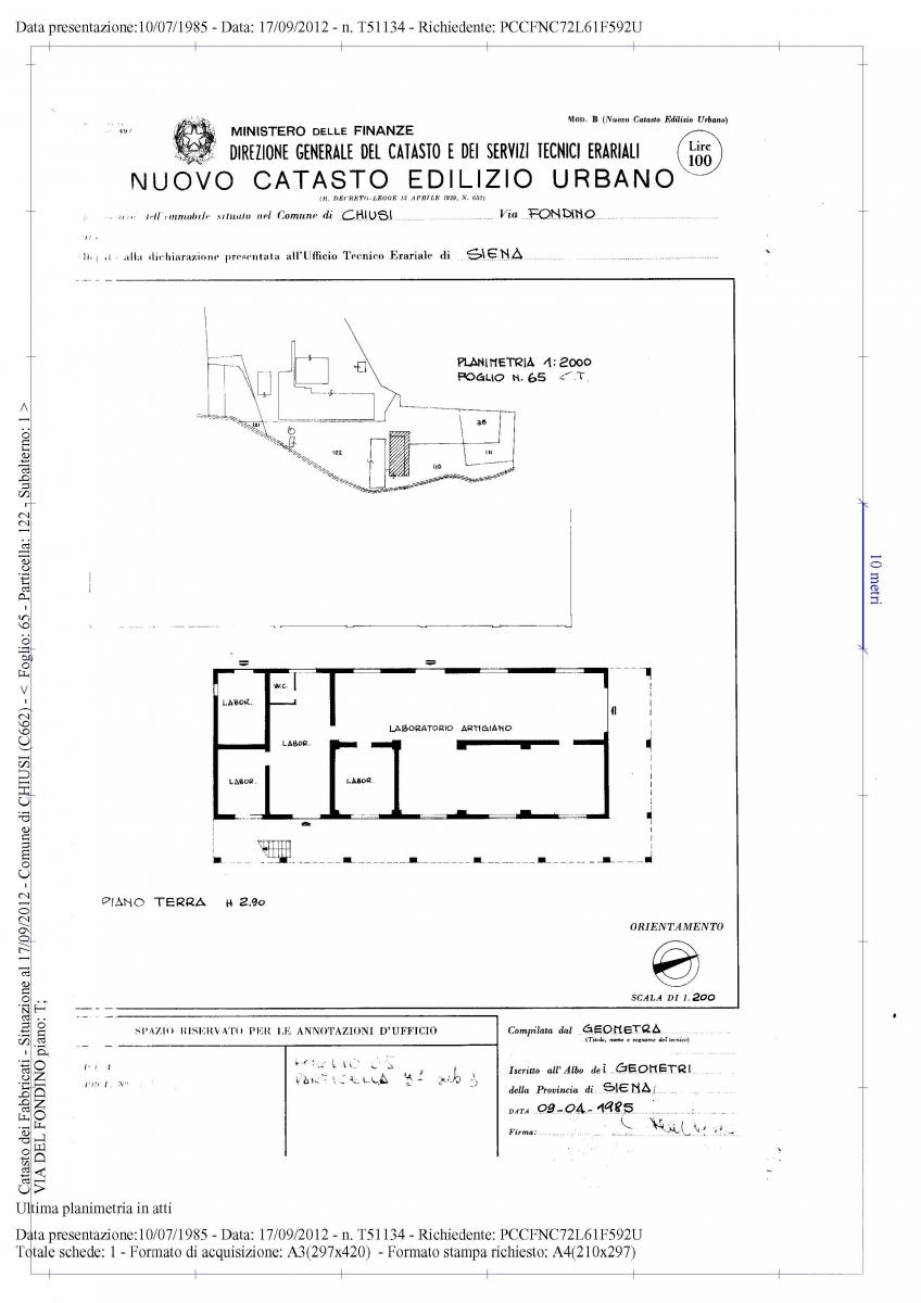 Appartamento e locali artigianali a CHIUSI in Via del Fondino 12