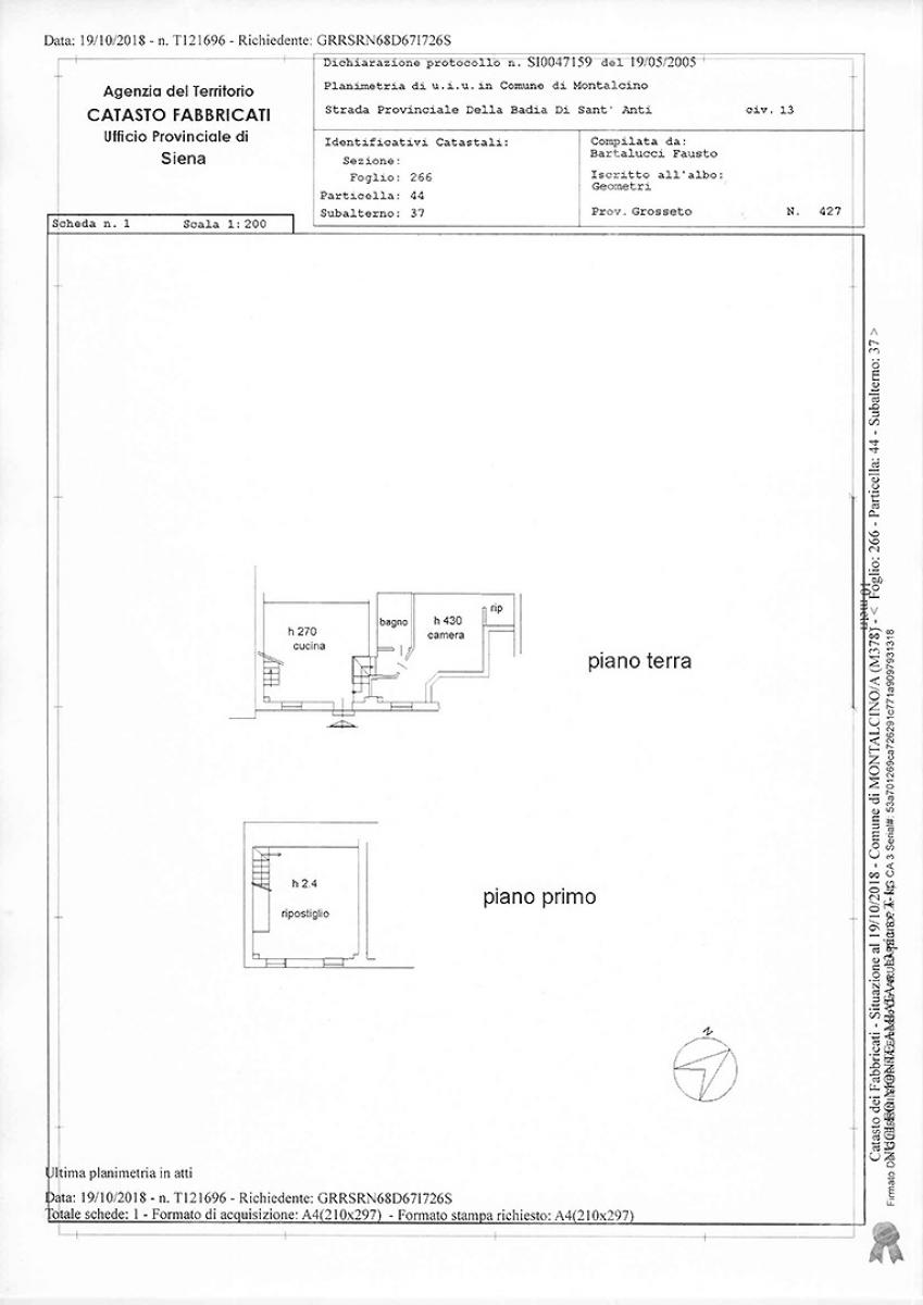 Appartamento in strada provinciale della Badia di Sant'Antimo a Montalcino 10